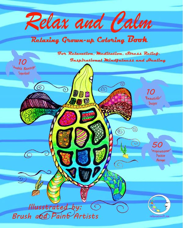 Relax and Calm - Adult Coloring Book for Stress Relief