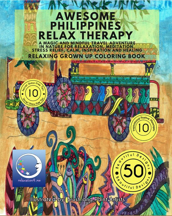 Grown Up Coloring Books for Stress Relief - Awesome Philippines Relax Therapy