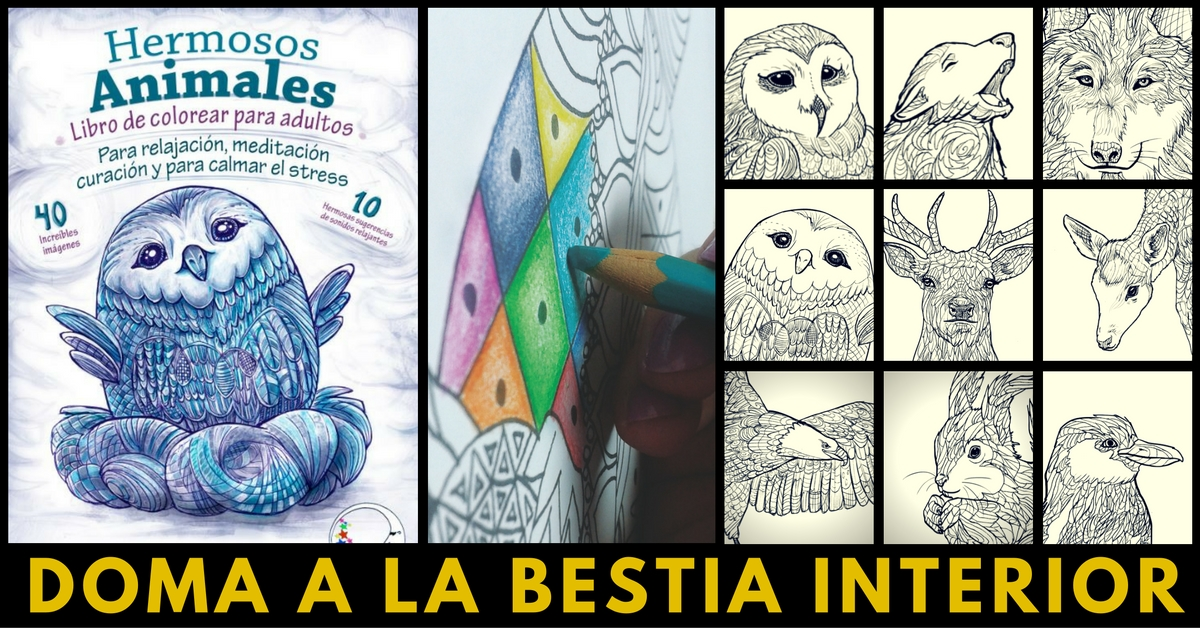 ANTIESTRES LIBRO DE COLOREAR PARA ADULTOS: HERMOSOS ANIMALES