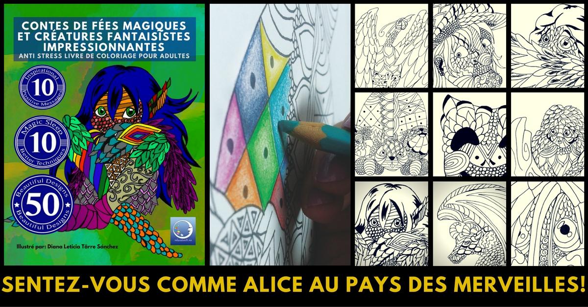 Anti Stress Livre De Coloriage Pour Adultes Art Therapie - Contes De Fées Magiques Et Créatures Fantaisistes Impressionnantes