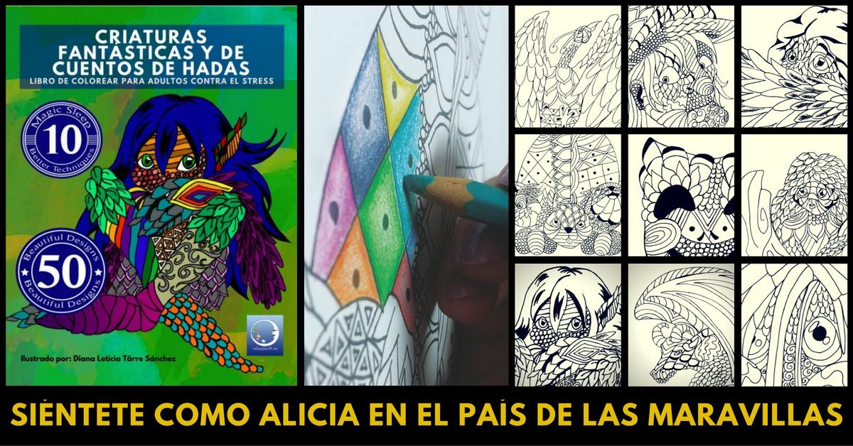 ANTIESTRES LIBRO DE COLOREAR PARA ADULTOS: CRIATURAS FANTÁSTICAS