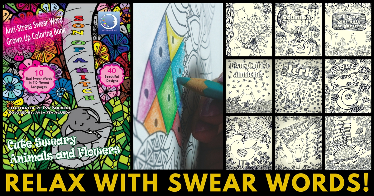 Cute Sweary Animals and Flowers - Swear Word Adult Coloring Book